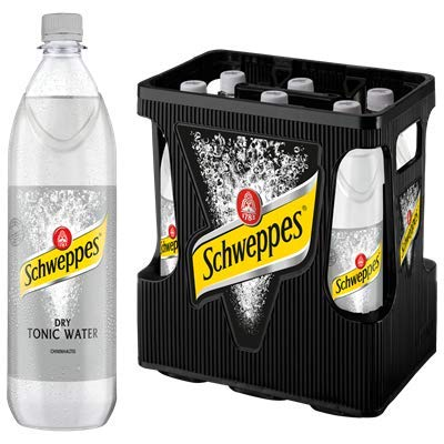 Schweppes Dry Tonic Water Mehrweg 6 x 1 l Flaschen