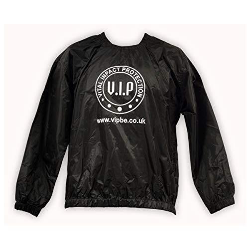 VIP Boxing Gym Workout Fitness Sweat Suit Traje de Sauna de Entrenamiento de Gimnasio de Boxeo, Unisex, Negro, S