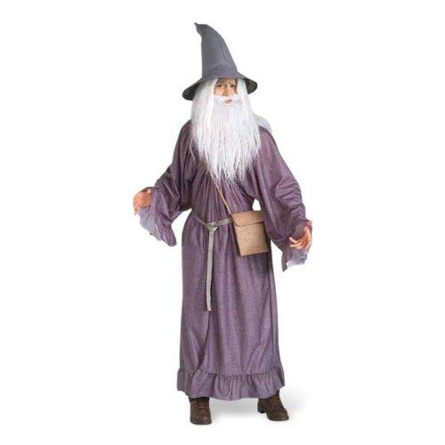 Original Lizenz Gandalf Herr der Ringe Kostüm Hobbit Magier Quenya Hexer Gr. STD