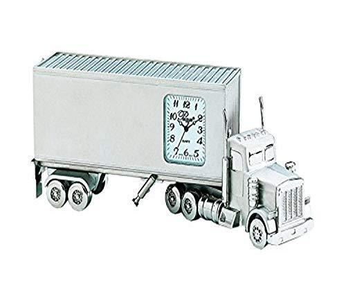 Sanis Enterprises 18 Wheeler Reloj de camión, 5.5 por 2 Pulgadas, Plateado