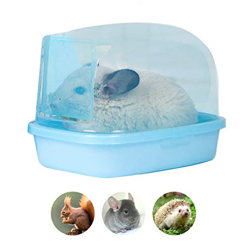 "Chinchilla Dry Bath, Hedgehog Sand Room Sauna Toilet Small Animal Bath House, Degus Squirrel Dust Bath 9.4""x6.7""x6.7"""