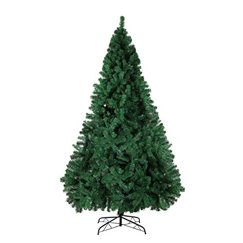 KARMAS PRODUCT 10 Ft High Christmas Tree 2150 Tips Decorate Pine Tree with Metal Legs Green, Without Decorations