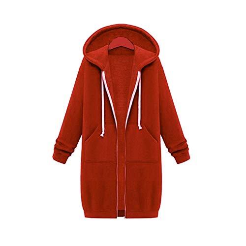 WXHNZYQ Cardigan con Cappuccio Sciolto Abbigliamento David Plus Velluto Plus Lungo da Donna Autunno E Inverno