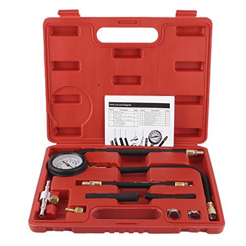 Krafststoffdruckmesser 0-100 PSI Druckprüfmanometer-Kit für Kraftstoffeinspritzpumpe Krafststoffdruckmesser Druckprüfmanometer für Kraftstoffeinspritzpumpen nur für Benzinmotoren