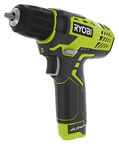 """Ryobi HP108L Compact 8 Volt Lithium Ion Cordless 3/8"""" 580 RPM Drill / Driving Kit (8V 1.3 Amp Hour Battery and Charger Included)"""