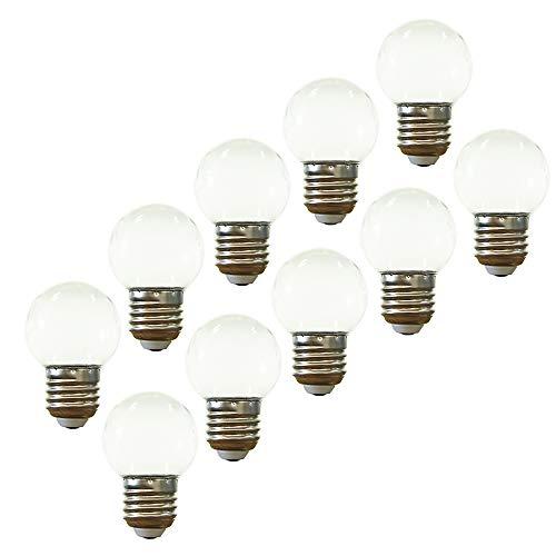 E27 LED-Lampe,dekorative Girlandenlampe 2W,kleine Golfball-Lampe,Kaltweiß,PC-Material AC220V-240V,10er-Pack