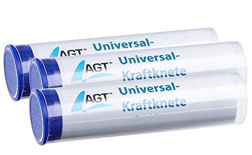 AGT Knetkleber: 3er-Pack Universal-Kraftknete: 2-Komponenten-Kleber aus Epoxidharz (Reparaturknete)