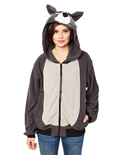 RG Costumes Men's Willie The Wolf Hoodie, Gray, Large