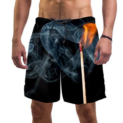 ATOMO Herren-Shorts, Badehose, tolles Feuerwehr-Match, lässig, Surfen, Strand-Shorts, schnelltrocknend Gr. XL, mehrfarbig