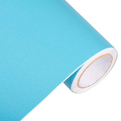 Peel and Stick Teal Wallpaper Contact Paper 24' by 393' (Teal)