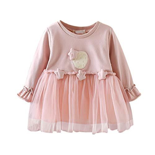 Baby Mädchen Kleid 1-3 Jahre Gaze Tutu Prinzessin Kleider Säugling Kleinkind Partei Tüll Rock Einfarbiger Stern Langarm Nette Gestrickte Baumwolle