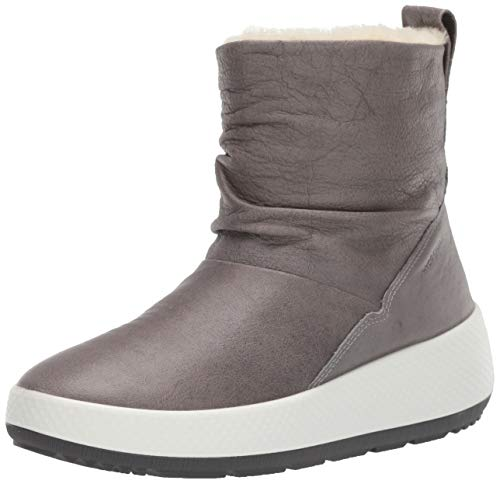 ECCO Women's Ukiuk 2.0 Hydromax Mid Snow Boot, Wild Dove Yak Leather, 37 M EU (6-6.5 US)