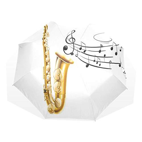 LASINSU Regenschirm,Schwarzweiss Schablonen Solo Vibes Druck,Faltbar Kompakt Sonnenschirm UV Schutz Winddicht Regenschirm