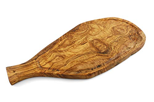 Natural Reversible Olive Wood Carving Board and Serving Tray