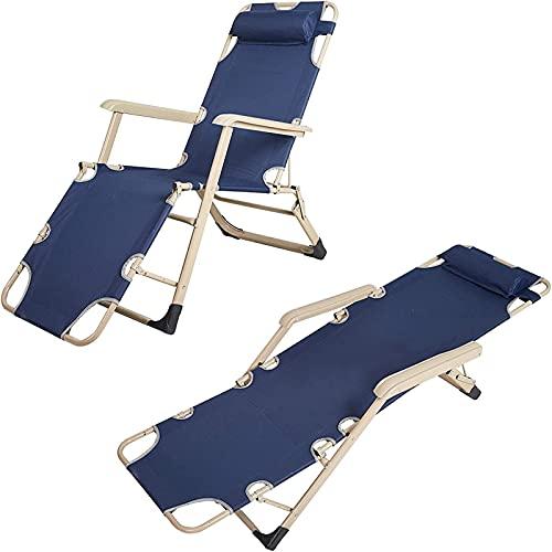 Sillas reclinables plegables para el camping de la piscina de playa al aire libre, gris 70 'L x 20.5' W, Jardín reclinado Sillón Sillón Silla Jardín Silla Playa Tumbona Tumbona Sillas de reclinación.