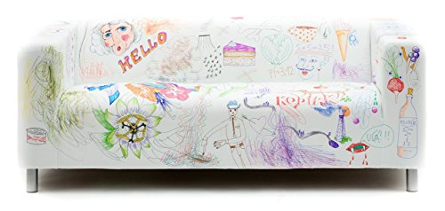 Artefly Klippan Slipcover & Pillow Cover - DY Markers Design (fits for IKEA Klippan 2 seat Sofa)