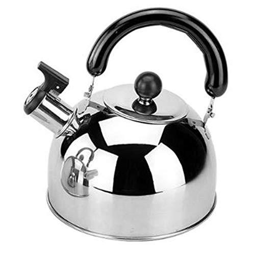 ¡Caliente! Tetera para estufa de tetera para tetera, teteras de tetera de acero inoxidable Teteras para estufa, capacidad de 3L con base de cápsula Por