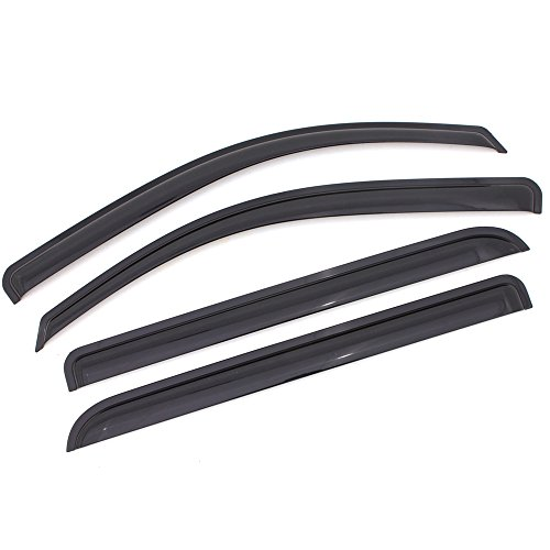 Window Visor Compatible With 2006-2010 Dodge Charger | Acrylic Smoke Tinted 4PCS by IKON MOTORSPORTS