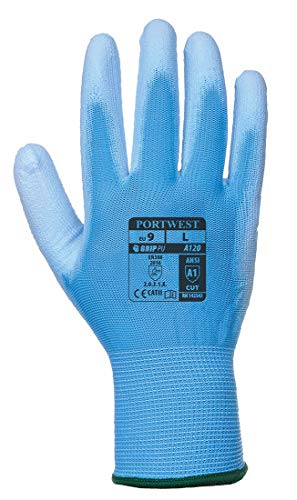 Portwest A120 - Handschuh Pu Palm, X-Large, blau, 1