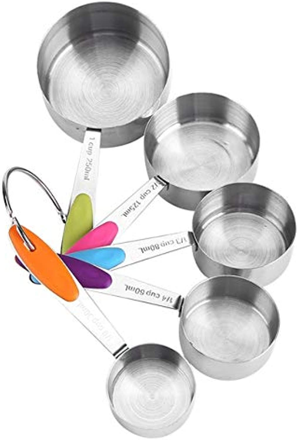 Stainless Steel Measuring Cup Kitchen Measuring Spoons Scoop for Baking Sugar Coffee Measuring Tools Sets   5 Pcs