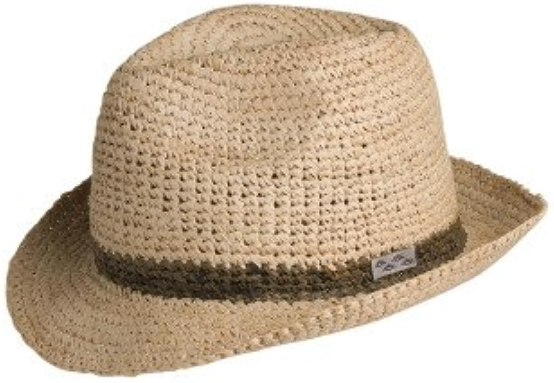 Conner Hats Men's Madison Raffia Straw Beach Fedora Hat