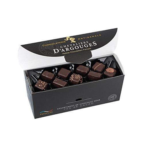 CHEVALIERS D'ARGOUGES Maîtres Chocolatiers Français Assortiment de Chocolats Noir 70% Ballton Dégustation 370 g