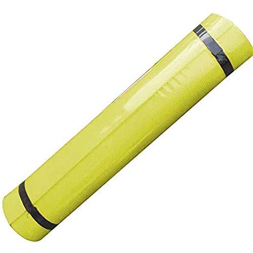 Denluns - Esterilla de yoga antideslizante, duradera, para yoga, pilates, meditación, 173 x 60 x 0,4 cm, amarillo