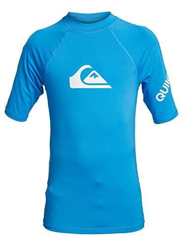 Quiksilver Jungen All Time Rash Guard Shirt, Blau, L EU