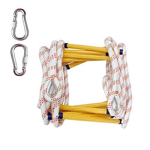 FIREDOPE Emergency Escape Ladder Familie, Draagbare Escape Ladder, Klein en gemakkelijk op te slaan, gemakkelijk te ontsnappen, twee verhalen Ladder (16 voeten)