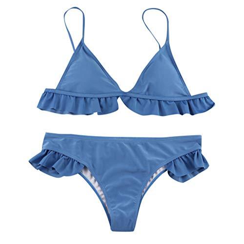 Bikinis Mujer Push up Sexy con Volantes de Playa Conjunto de Traje...