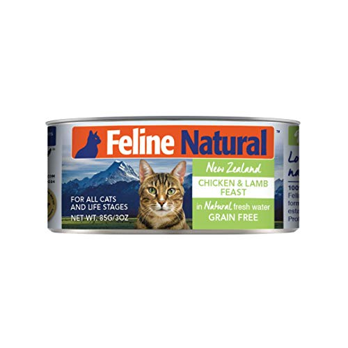 Feline Natural BPA-Free & Gelatin-Free Canned Cat Food, Chicken & Lamb 3oz 24 Pack