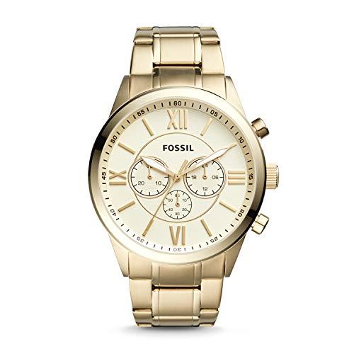 Fossil Flynn BQ1128 Reloj cronógrafo de acero inoxidable dorado