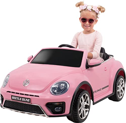 Actionbikes Motors Kinder Elektroauto VW Beetle Käfer - Lizenziert - 2 x 40 Watt Motoren - 2,4 Ghz Fernbedienung - Eva Vollgummi Reifen (Pink)