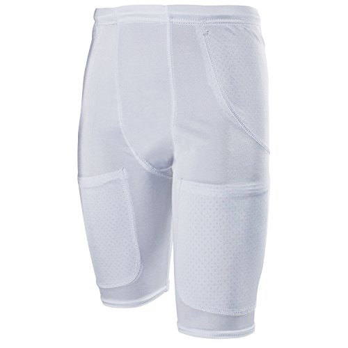 Cramer Classic 5-Pocket Football Girdle w/ Drawstring Waist, Football Pants, Minimum Compression Girdles with Hip, Thigh, and Tailbone Pockets for Pads, Adult and Youth Football Gear, White