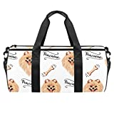 LAZEN Hombro Handy Sports Gym Bags Travel Duffle Totes Bag para hombres, mujeres, patrón de Pomerania gratis