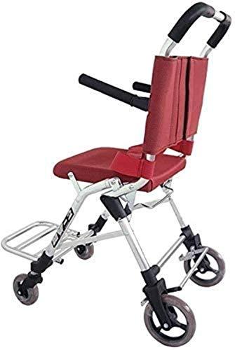 Silla de ruedas portátil plegable rápida de aluminio, freno de pedal de silla de ruedas autopropulsado ultraligero, portátil ascendente, adecuado for personas mayores y discapacitadas convenientes