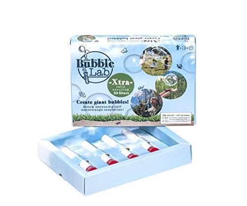 Bubblelab Riesenseifenblasen Flüssigkeit Nachfull DIY nachfull Pudur für Zehn (10) Liter super Seifenblasenflüssigkeit - 1 Liter = 1 Kind für 1 Stunde - Geschenk, Party, Schule