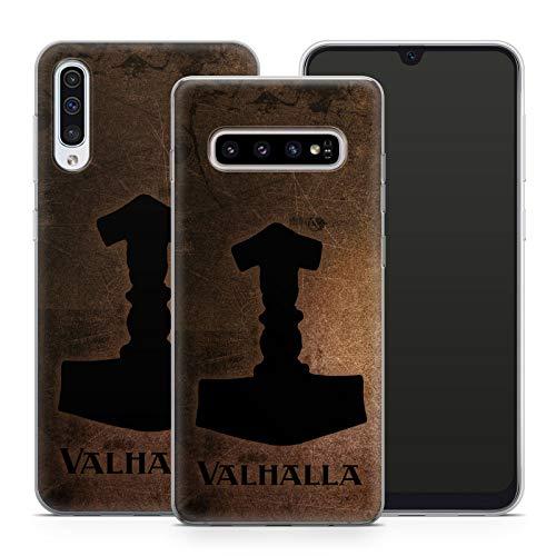 Handyhülle Valhalla für Samsung Silikon MMM Belrin Hülle Odin Thor Viking Wikinger Gothic Freya, Kompatibel mit Handy:Samsung Galaxy J3 (2016), Hüllendesign:Design 2 | Silikon Klar