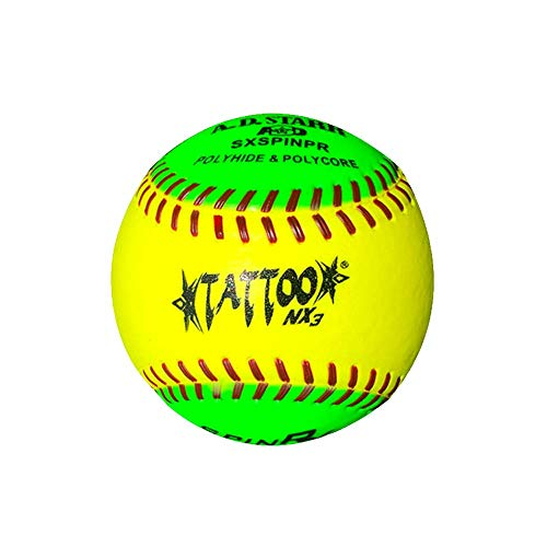 A.D. Starr Spinner Tattoo Softball (Dozen)