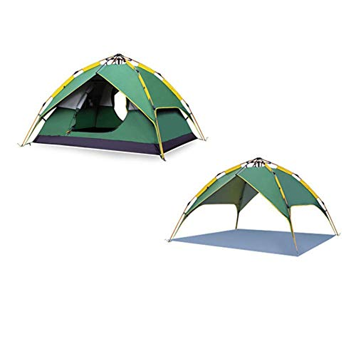 COOLLL Outdoor Tent, Double Layer Dome Tent, 3-4 Man Lightweight Tent Waterproof Double Layer Dome Tent Outdoor Camping Hiking Tent for Climbing Fishing Survival Festivals Garden,Green