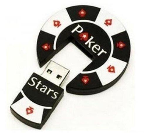 ZUBER® Novelty Poker Chip USB Flash Key Pen Drive Memory Stick Gift UK (8GB)