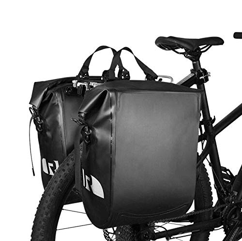 Check Out This ZAIHW 20L Bike Bag Bike Pannier Bag Waterproof Bike Saddle Bag Extensible Bicycle Rea...