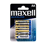 Maxell AA Alkaline Battery (Pack of 4)