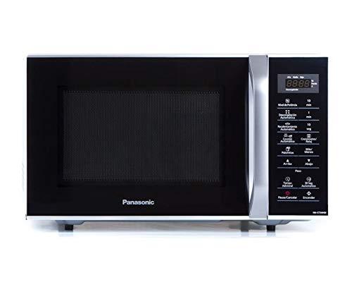 Panasonic NN-ST34HMRUH Horno Microondas, 0.9 Pies con Manija, 800 Watts, Color Negro, panel digital