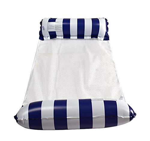 HSY SHOP 2 uds, Hamaca de Agua, Alfombrilla de Aire para Piscina, Alfombrilla de Agua, Juguetes para Piscina, Cama Inflable para Piscina, colchón de Playa (Color : Dark Blue)