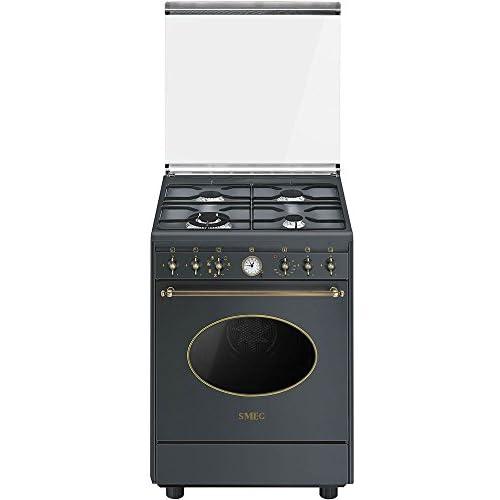 Smeg CO68GMA8 Libera installazione Piano cottura a gas A Antracite cucina