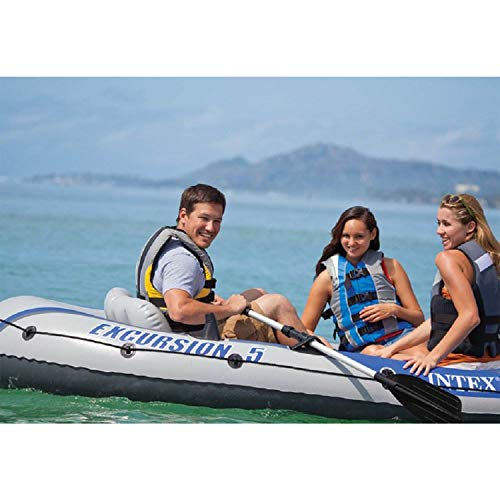 Intex Excursion 5 Person Inflatable  Boat Set