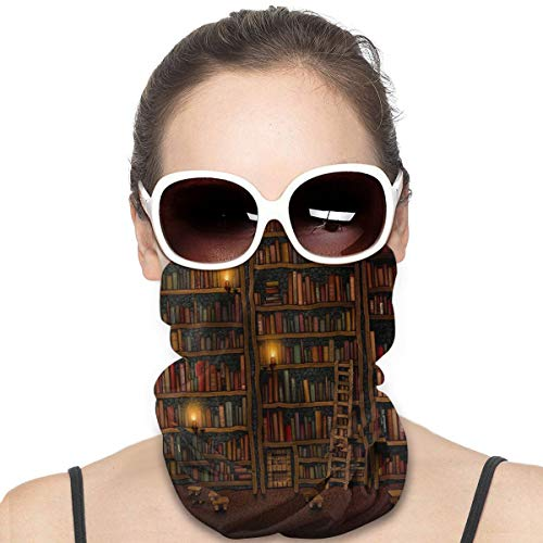 Library Books Face Tube Mask Neck Gaiter Sun Shade Scarf Bandana