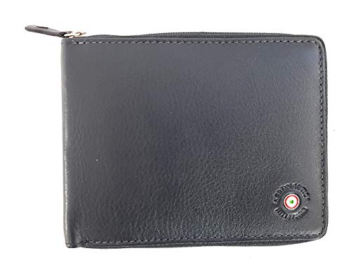 Aircraft Military Wallet Man with Card Holder and Zip Closure AM 139 Anthracite