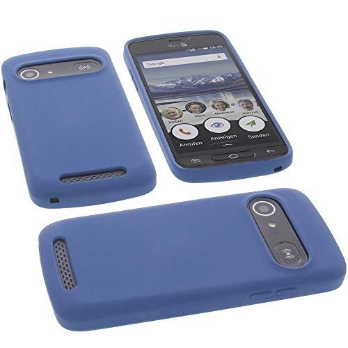 foto-kontor Hülle für Doro 8040 Tasche Silikon TPU Schutz Handytasche blau